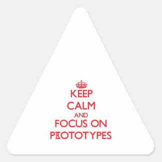 Guarde la calma y el foco en prototipos