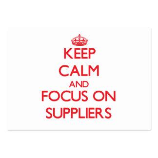 Guarde la calma y el foco en proveedores