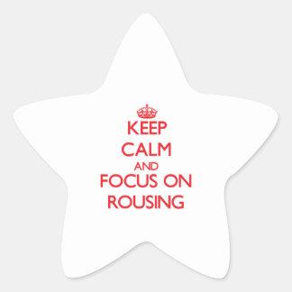 Guarde la calma y el foco en provocar
