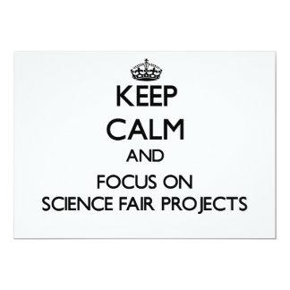 Guarde la calma y el foco en proyectos de la feria invitación 12,7 x 17,8 cm