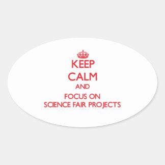 Guarde la calma y el foco en proyectos de la feria calcomanía de óval personalizadas