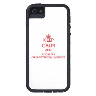 Guarde la calma y el foco en prueba circunstancial iPhone 5 Case-Mate cobertura