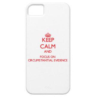 Guarde la calma y el foco en prueba circunstancial iPhone 5 Case-Mate cárcasas