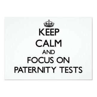 """Guarde la calma y el foco en pruebas de paternidad invitación 5"""" x 7"""""""