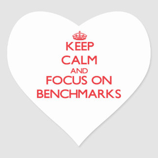 Guarde la calma y el foco en pruebas patrones pegatinas de corazon