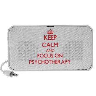 Guarde la calma y el foco en psicoterapia iPhone altavoz