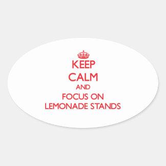 Guarde la calma y el foco en puestos de limonadas colcomanias óval