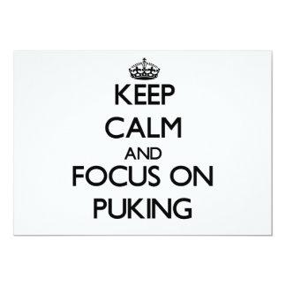 Guarde la calma y el foco en Puking Comunicado Personal