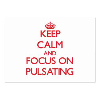 Guarde la calma y el foco en pulsar plantillas de tarjeta de negocio