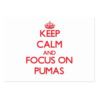 Guarde la calma y el foco en Pumas Tarjetas De Visita Grandes