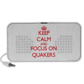 Guarde la calma y el foco en Quakers Mini Altavoz