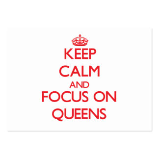 Guarde la calma y el foco en Queens Tarjetas De Visita
