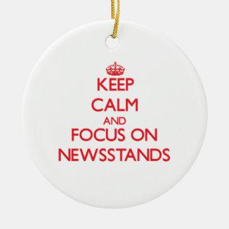 Guarde la calma y el foco en quioscos adorno de navidad