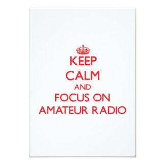 Guarde la calma y el foco en radio aficionada comunicados personales