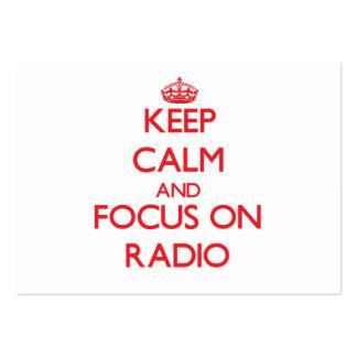 Guarde la calma y el foco en radio