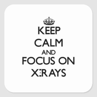 Guarde la calma y el foco en radiografías colcomanias cuadradases