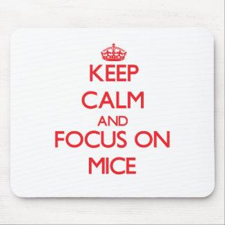 Guarde la calma y el foco en ratones mousepad