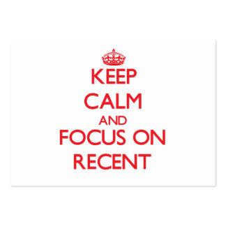Guarde la calma y el foco en reciente