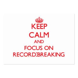 Guarde la calma y el foco en récord plantilla de tarjeta de negocio