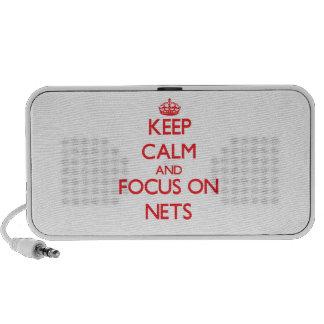 Guarde la calma y el foco en redes PC altavoces