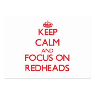 Guarde la calma y el foco en Redheads Tarjetas De Visita Grandes