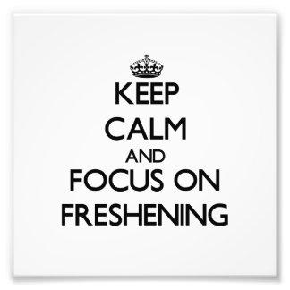 Guarde la calma y el foco en refrescar