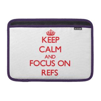 Guarde la calma y el foco en Refs Fundas MacBook