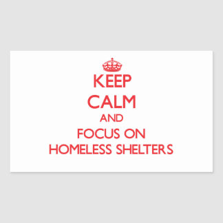 Guarde la calma y el foco en refugios para pegatinas