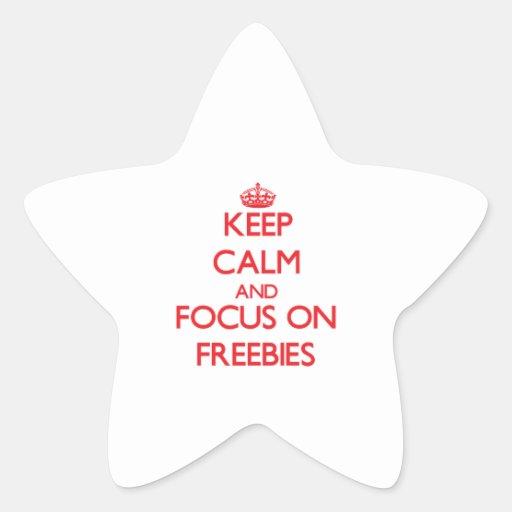 Guarde la calma y el foco en regalos de promoción calcomanias forma de estrella