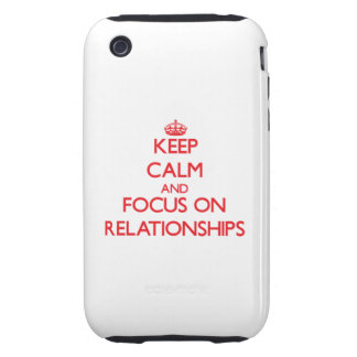 Guarde la calma y el foco en relaciones tough iPhone 3 fundas