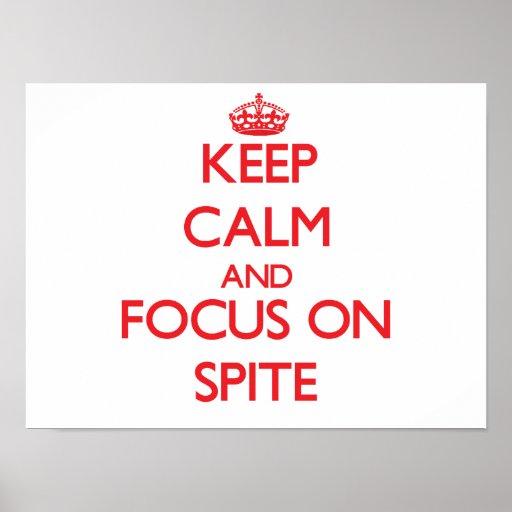 Guarde la calma y el foco en rencor impresiones