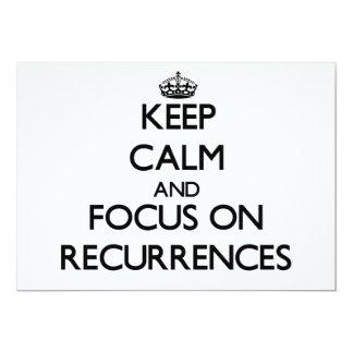 """Guarde la calma y el foco en repeticiones invitación 5"""" x 7"""""""