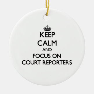 Guarde la calma y el foco en reporteros de corte