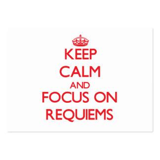 Guarde la calma y el foco en Requiems Tarjeta De Visita