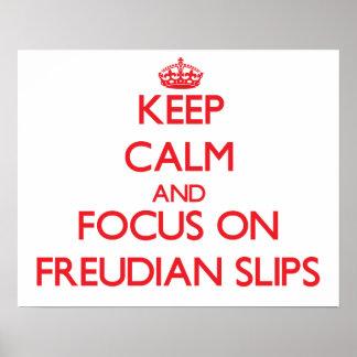Guarde la calma y el foco en resbalones freudianos impresiones