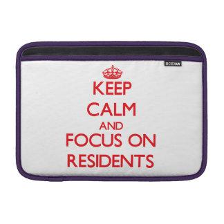 Guarde la calma y el foco en residentes funda  MacBook