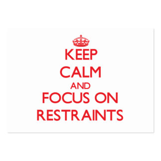 Guarde la calma y el foco en restricciones