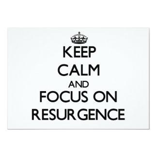 """Guarde la calma y el foco en resurgimiento invitación 5"""" x 7"""""""