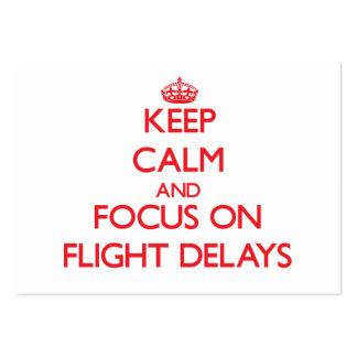 Guarde la calma y el foco en retrasos de vuelo tarjetas de visita