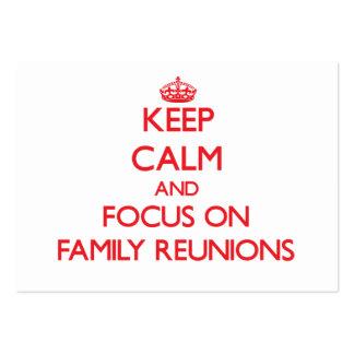 Guarde la calma y el foco en reuniones de familia tarjeta de visita