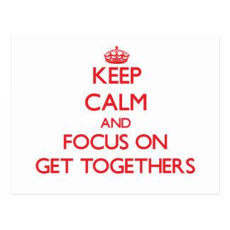Guarde la calma y el foco en reuniones postal