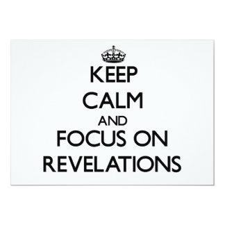 """Guarde la calma y el foco en revelaciones invitación 5"""" x 7"""""""