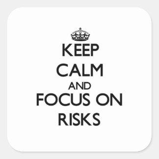 Guarde la calma y el foco en riesgos