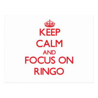 Guarde la calma y el foco en Ringo Postales