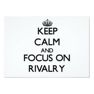 """Guarde la calma y el foco en rivalidad invitación 5"""" x 7"""""""