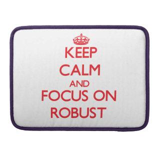 Guarde la calma y el foco en robusto fundas para macbooks