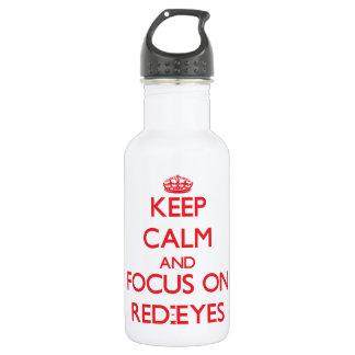 Guarde la calma y el foco en Rojo-Ojos