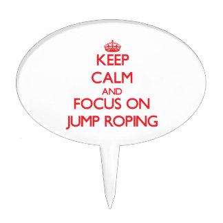 Guarde la calma y el foco en Roping del salto Decoración De Tarta