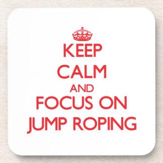 Guarde la calma y el foco en Roping del salto Posavasos