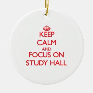 Guarde la calma y el foco en sala de estudio ornatos
